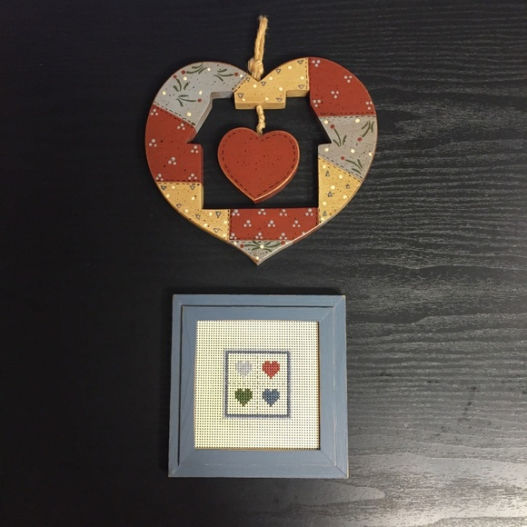 SALE ☀️Vintage | Heart & Home Wooden Wall Hangings